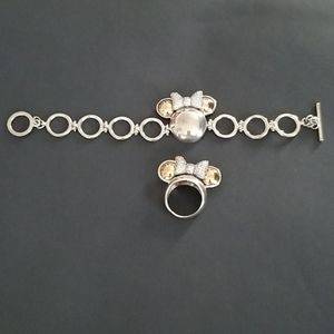 Minnie Mouse Sterling Silver and gold set